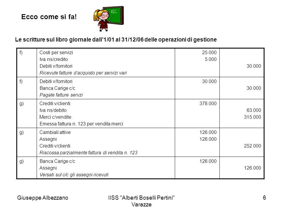 IISS Alberti Boselli Pertini Varazze 17 Ecco come si fa.