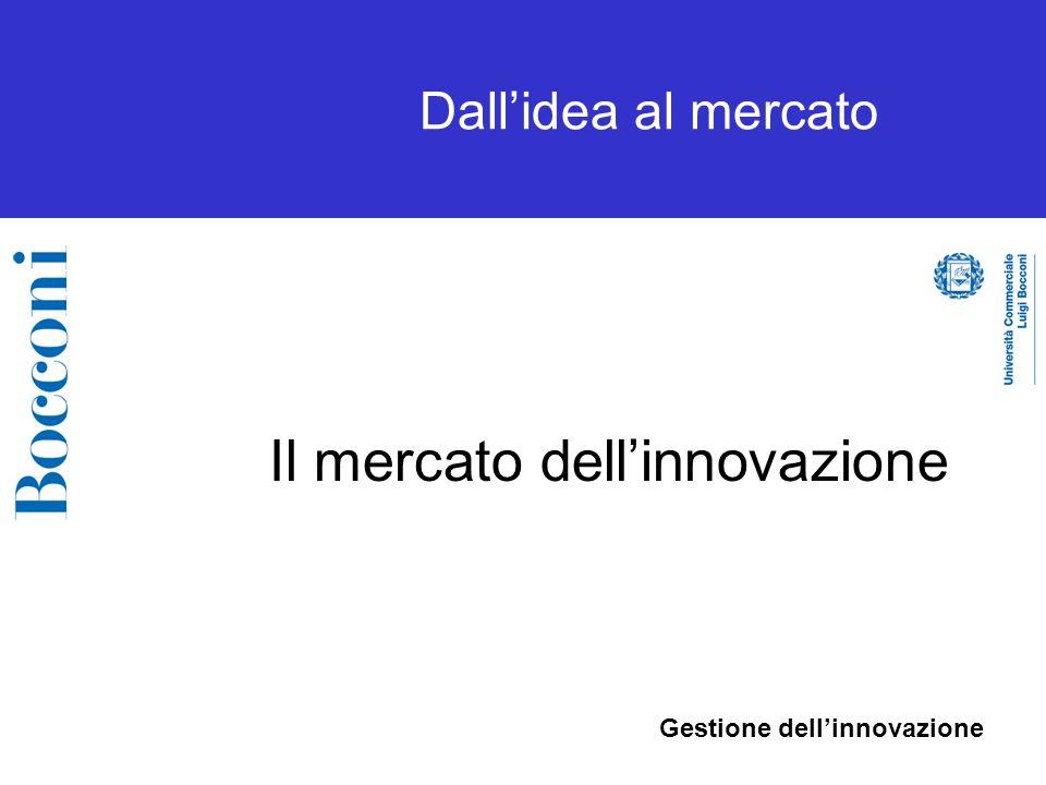 Gestione dellinnovazione Dallidea al mercato Il mercato dellinnovazione