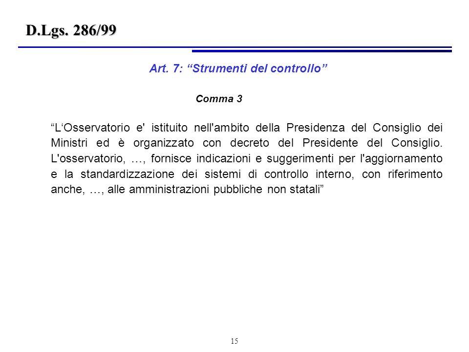 15 LOsservatorio e istituito nell ambito della Presidenza del Consiglio dei Ministri ed è organizzato con decreto del Presidente del Consiglio.