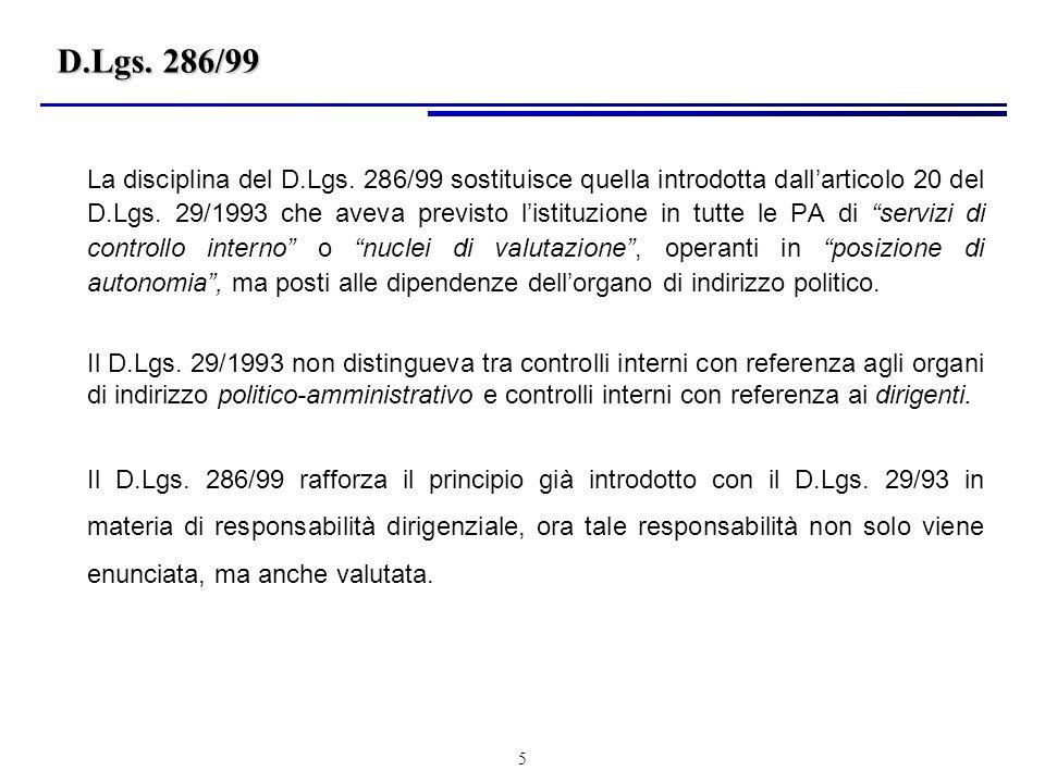 5 D.Lgs.286/99 La disciplina del D.Lgs.