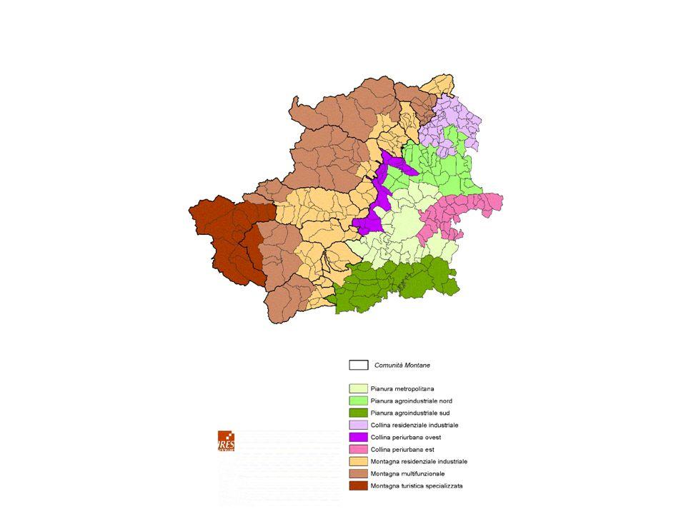 Carta 2 – Proposta di zonizzazione del territorio della provincia di Torino