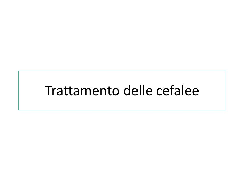 Cefalea Patologia comune e di notevole rilevanza clinica Fenomeno sociale di grandi proporzioni Impatto sullindividuo e societa >> elevati costi economici Colpisce prevalentemente gli adulti con incidenza del 15-20% della popolazione (12% in Italia) La massima incidenza viene raggiunta tra i 35 e i 45 anni.