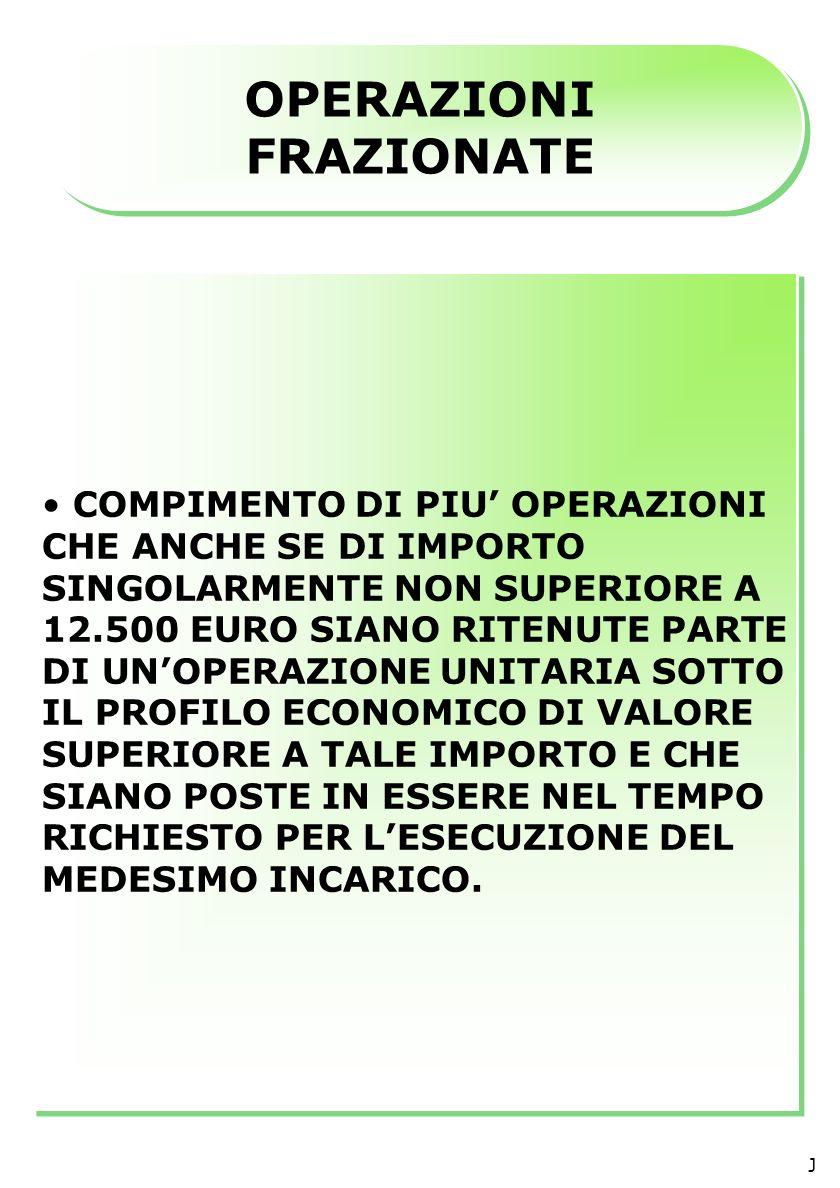 ART.3 DM e PARTE II, 1 PROVV.UIC OBBLIGHI DI IDENTIFICAZIONE E REGISTRAZIONE ( D.Lgs.