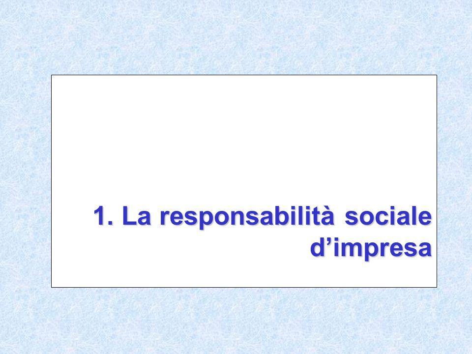 1. La responsabilità sociale dimpresa