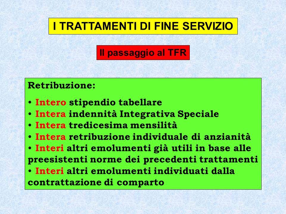 Il passaggio al TFR CCNL Autonomie Locali (14.9.2000) Art.