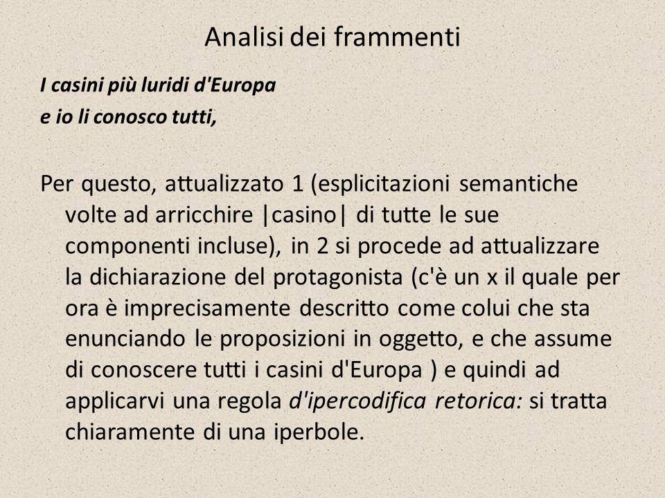 Analisi dei frammenti I casini più luridi d'Europa e io li conosco tutti, Per questo, attualizzato 1 (esplicitazioni semantiche volte ad arricchire |c