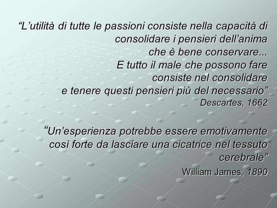 Lutilità di tutte le passioni consiste nella capacità di consolidare i pensieri dellanima che è bene conservare... E tutto il male che possono fare co