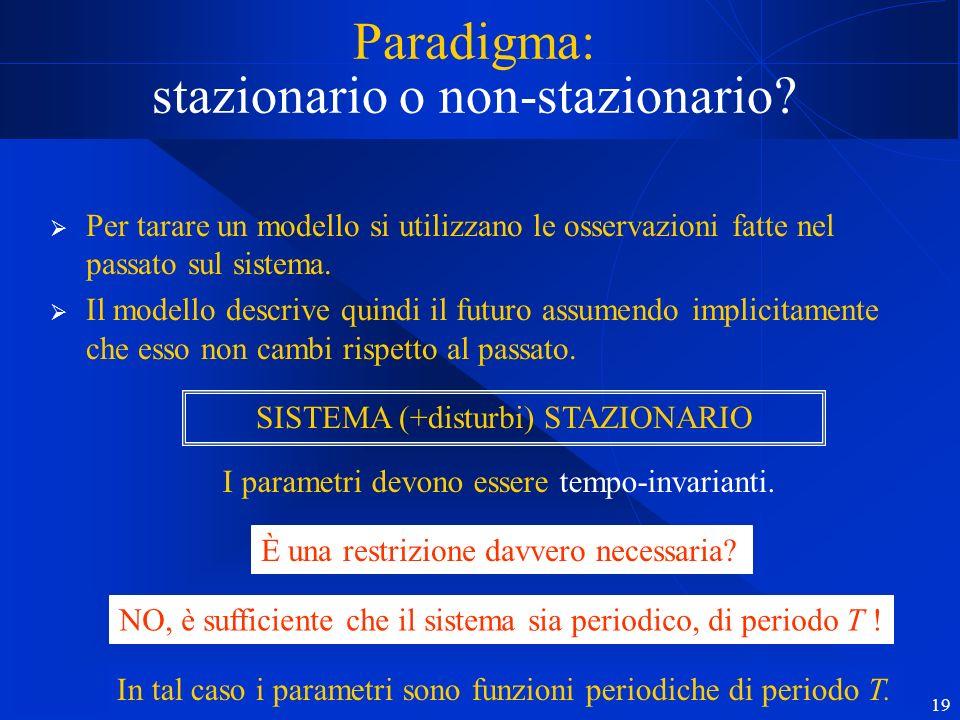 19 Paradigma: stazionario o non-stazionario.