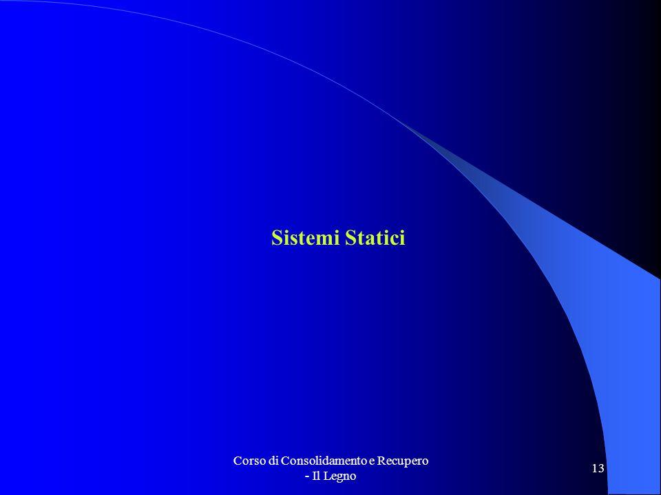Corso di Consolidamento e Recupero - Il Legno 13 Sistemi Statici