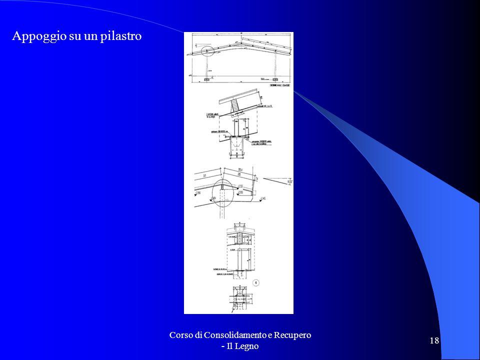 Corso di Consolidamento e Recupero - Il Legno 18 Appoggio su un pilastro