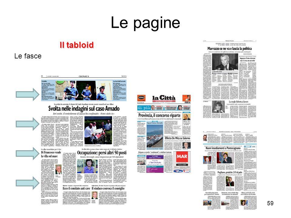 59 Il tabloid Le fasce Le pagine
