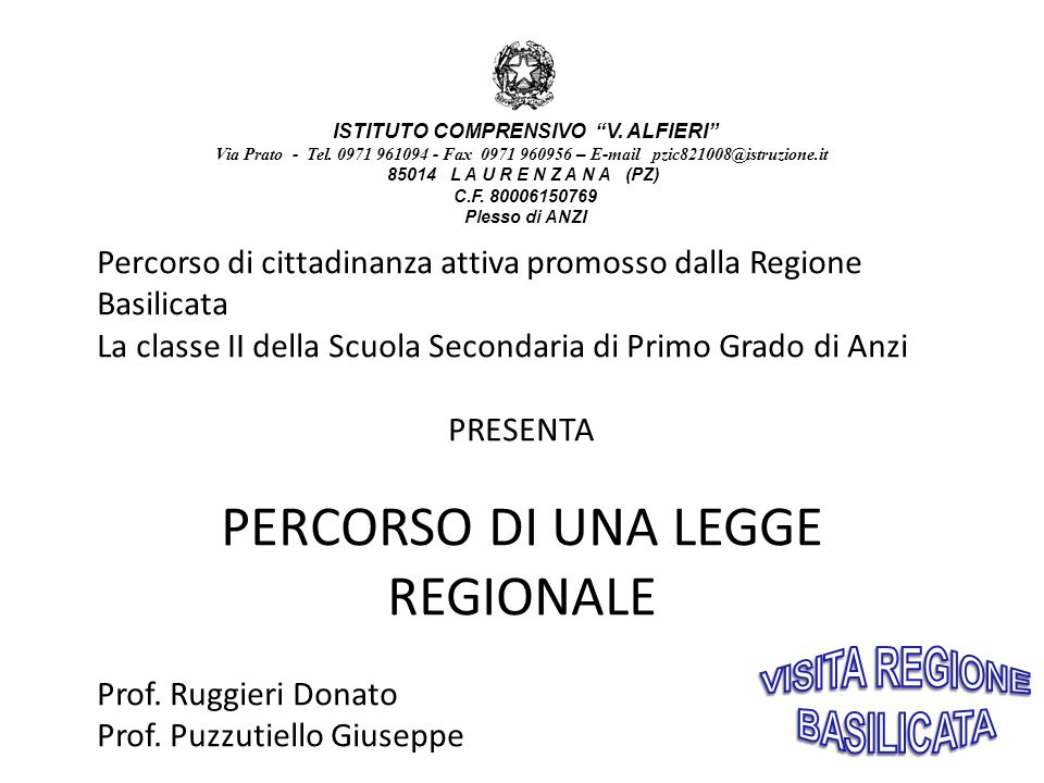 ISTITUTO COMPRENSIVO V.ALFIERI Via Prato - Tel.