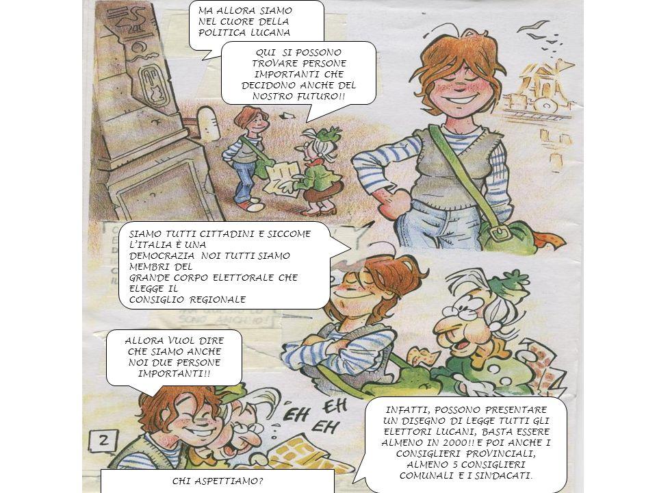 INFATTI, POSSONO PRESENTARE UN DISEGNO DI LEGGE TUTTI GLI ELETTORI LUCANI, BASTA ESSERE ALMENO IN 2000!.
