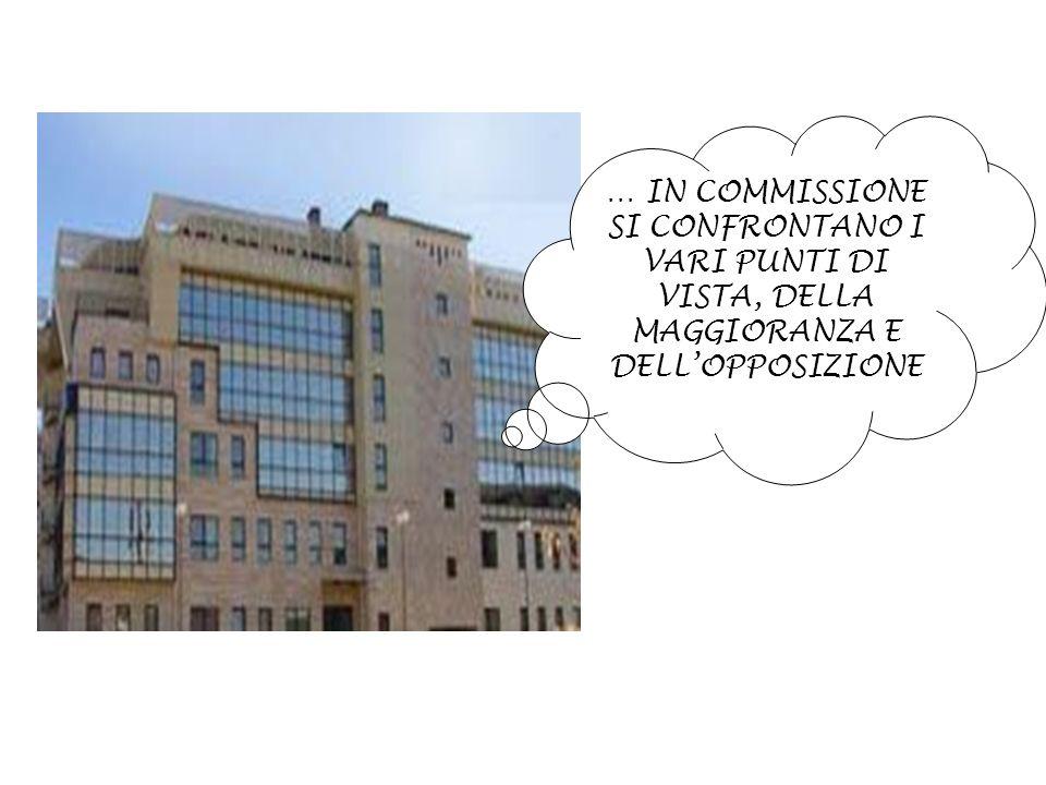 … IN COMMISSIONE SI CONFRONTANO I VARI PUNTI DI VISTA, DELLA MAGGIORANZA E DELLOPPOSIZIONE