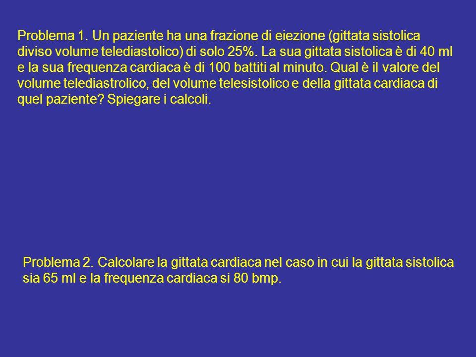 Domanda In corrispondenza del volume telediastolico indicato dal punto A, produrrà maggiore forza il cuore in condizioni di controllo o sotto leffetto