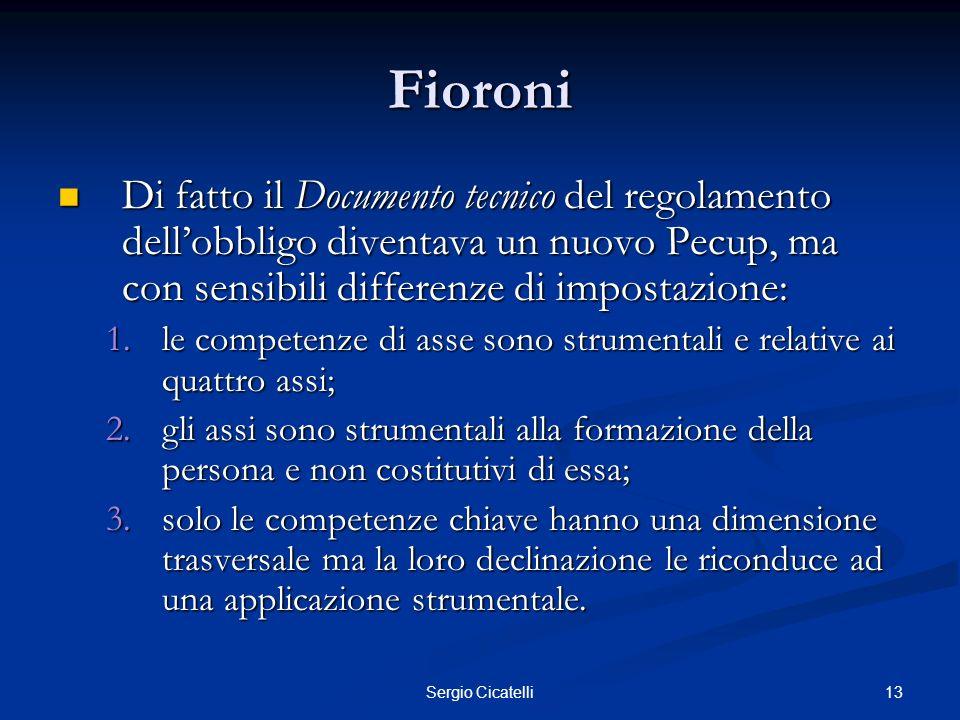 14Sergio Cicatelli Gelmini Primo ciclo: Primo ciclo: Atto di indirizzo 8-9-2009.