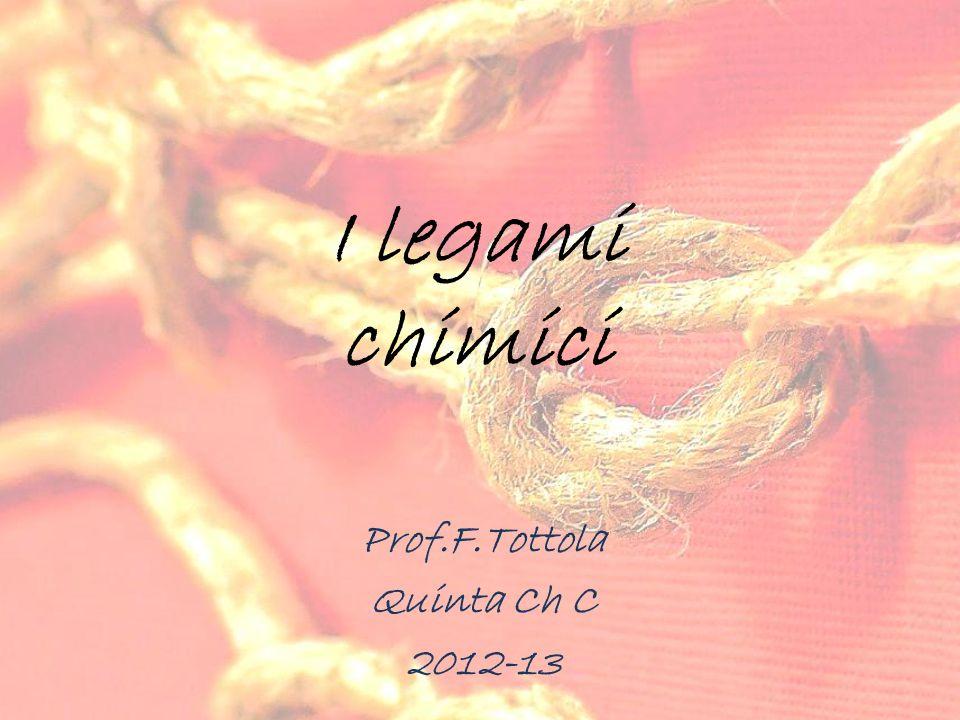 I legami chimici Prof.F.Tottola Quinta Ch C 2012-13