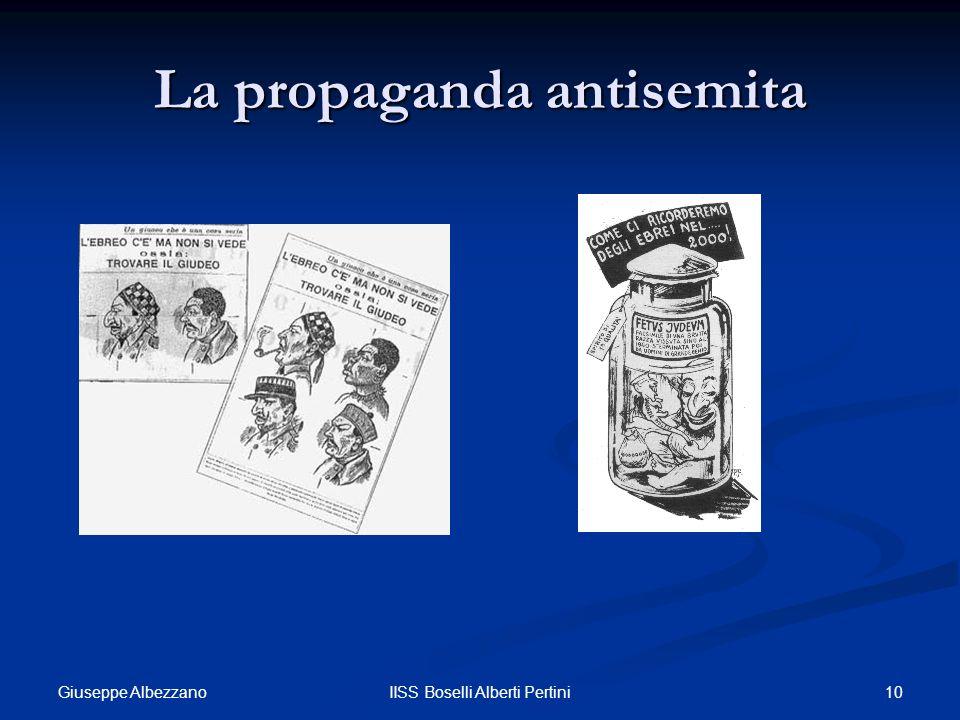 10IISS Boselli Alberti Pertini La propaganda antisemita Giuseppe Albezzano