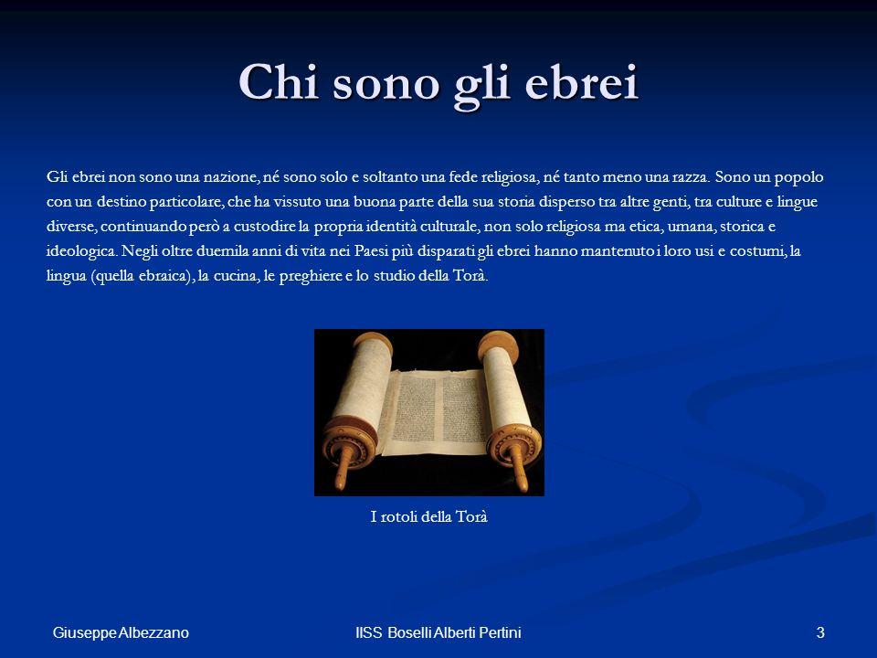 4IISS Boselli Alberti Pertini Gli ebrei italiani La comunità ebraica italiana, la più antica della diaspora, è sempre stata esigua ma continuamente e ininterrottamente presente nella nostra penisola da oltre 2.200 anni.