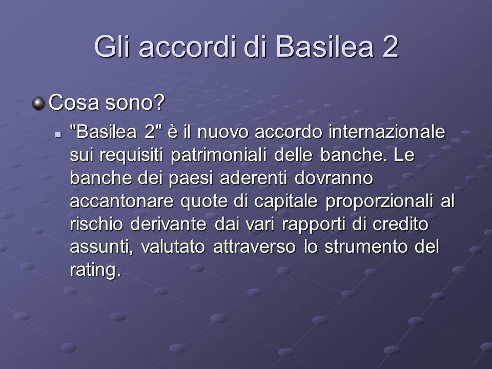 Gli accordi di Basilea 2 Cosa sono?