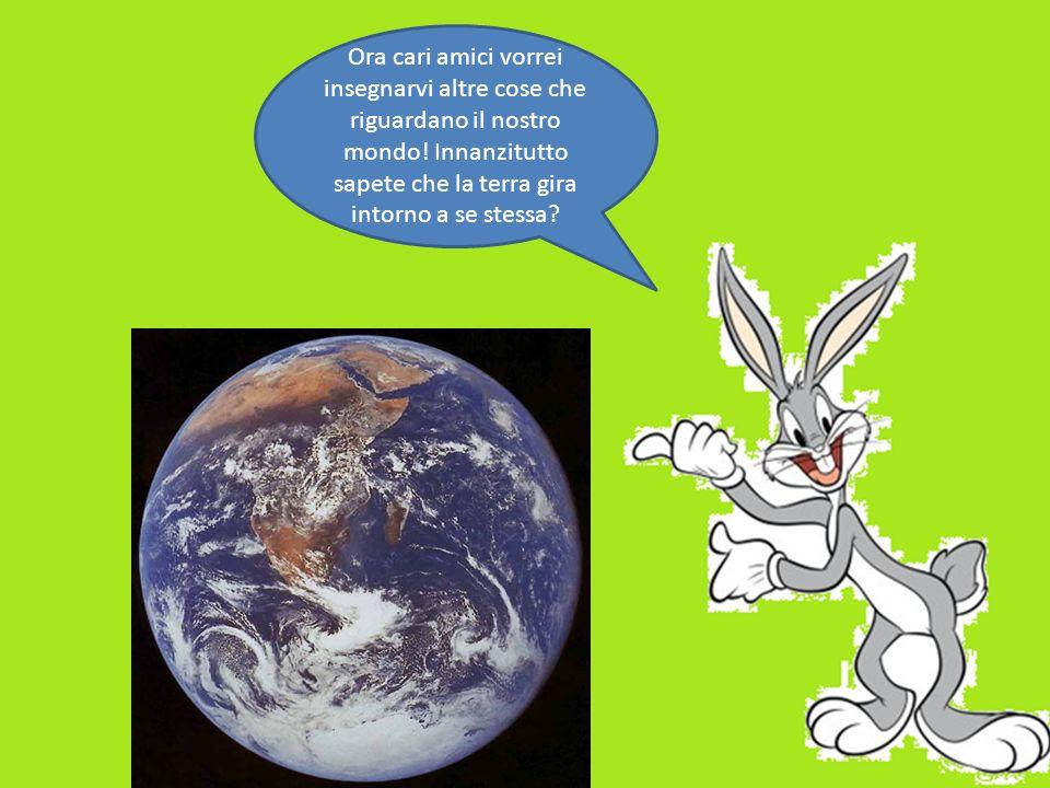 Ora cari amici vorrei insegnarvi altre cose che riguardano il nostro mondo! Innanzitutto sapete che la terra gira intorno a se stessa?