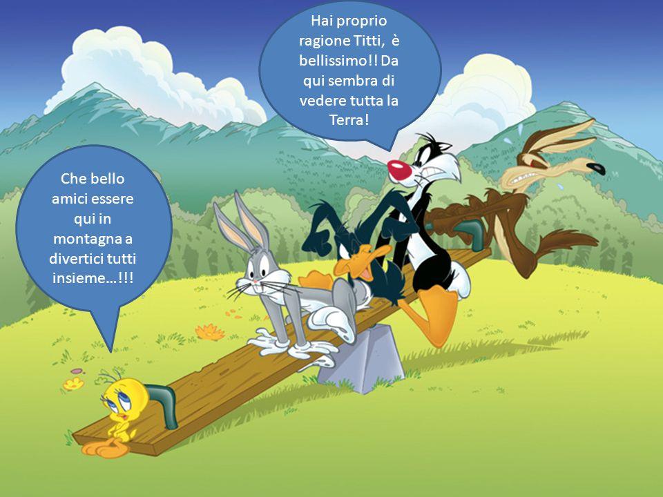 Che bello amici essere qui in montagna a divertici tutti insieme…!!! Hai proprio ragione Titti, è bellissimo!! Da qui sembra di vedere tutta la Terra!