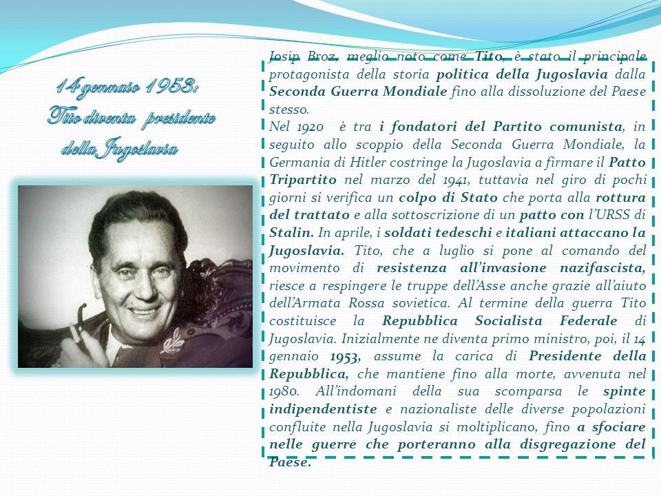 Josip Broz, meglio noto come Tito, è stato il principale protagonista della storia politica della Jugoslavia dalla Seconda Guerra Mondiale fino alla d