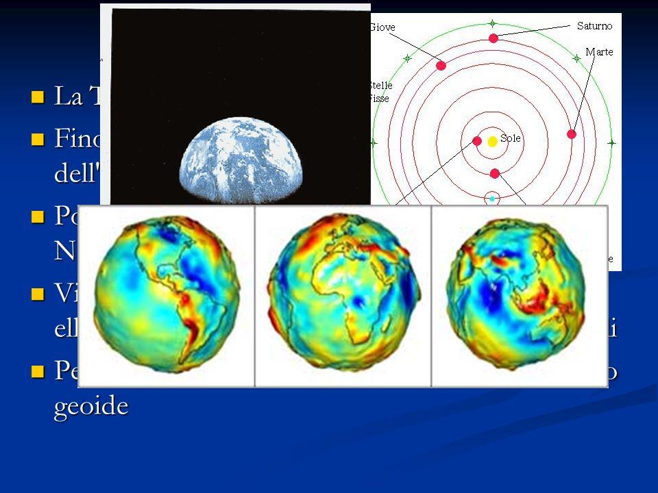 Prove della sfericità della Terra I greci avevano osservato che quando una nave si avvicina si vede prima la punta della vela e poi tutto il resto, cosa compatibile solo con una Terra curva Durante i viaggi per commercio i popoli del mediterraneo avevano osservato che laltezza delle stella polare variava, se la Terra fosse piatta questo fenomeno non si doveva osservare Lombra della Terra durante le eclissi di luna aveva sempre la forma di un arco cosa che è sempre compatibile con un Terra sferica