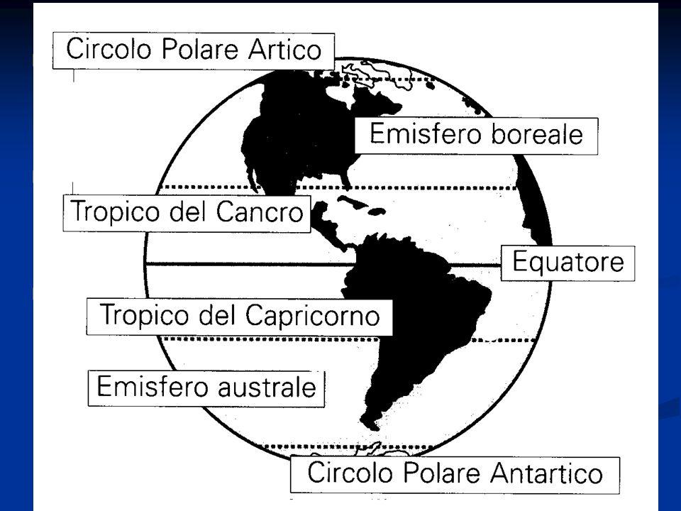 I meridiani sono circonferenze ottenute immaginando di tagliare la terra con gli infiniti piani che passano per l asse terrestre I meridiani sono circonferenze ottenute immaginando di tagliare la terra con gli infiniti piani che passano per l asse terrestre I poli dividono il meridiano in due semicirconferenze: il meridiano geografico e l antimeridiano I poli dividono il meridiano in due semicirconferenze: il meridiano geografico e l antimeridiano Il meridiano fondamentale è il meridiano di Greenwich (0°) all opposto ci sarà l antimeridiano di Greenwich (180°) Il meridiano fondamentale è il meridiano di Greenwich (0°) all opposto ci sarà l antimeridiano di Greenwich (180°)