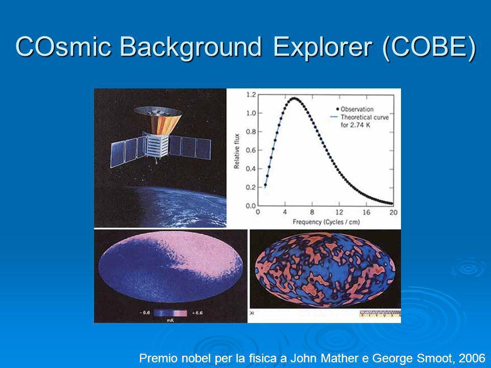 COsmic Background Explorer (COBE) Premio nobel per la fisica a John Mather e George Smoot, 2006