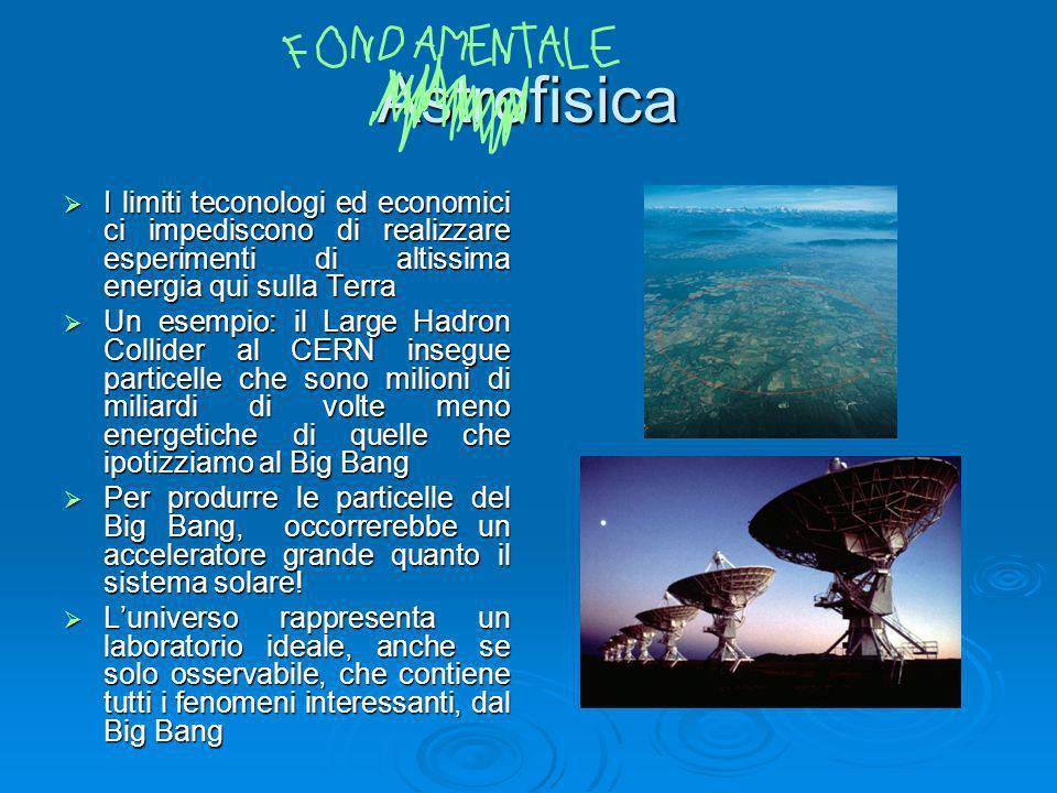 Astrofisica I limiti teconologi ed economici ci impediscono di realizzare esperimenti di altissima energia qui sulla Terra I limiti teconologi ed econ