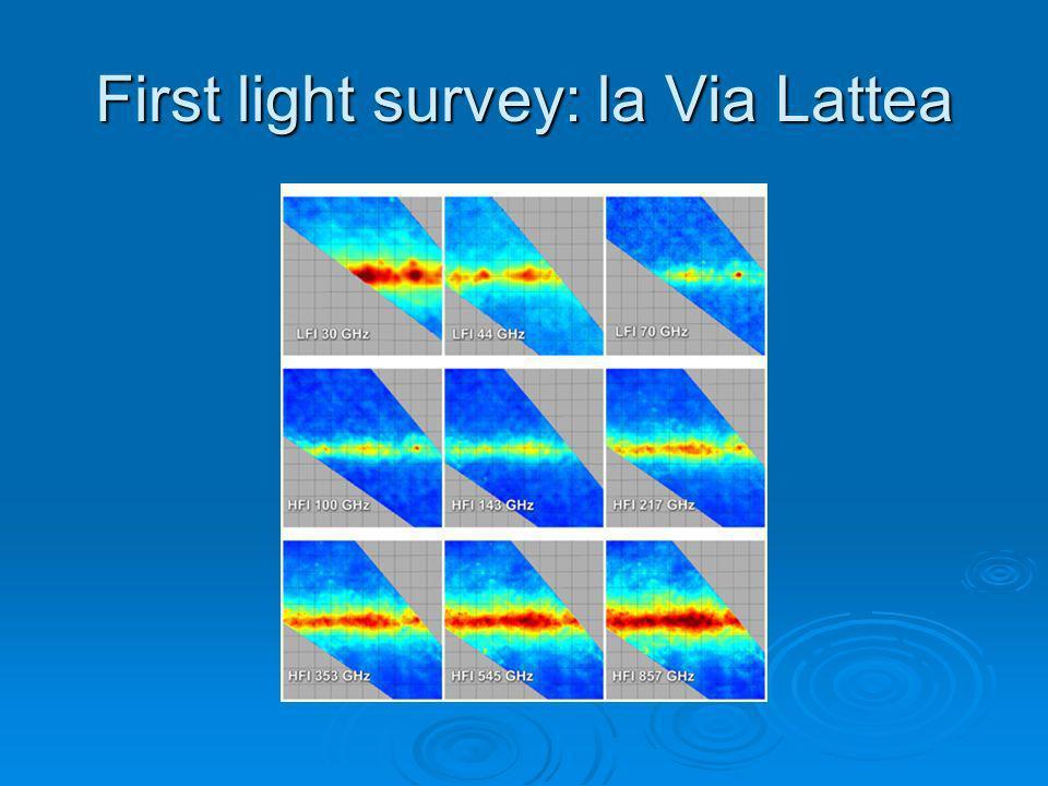 First light survey: la Via Lattea