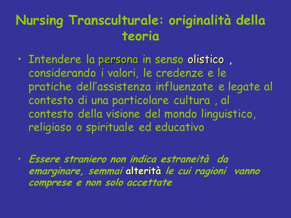 personaolisticoIntendere la persona in senso olistico, considerando i valori, le credenze e le pratiche dellassistenza influenzate e legate al contest