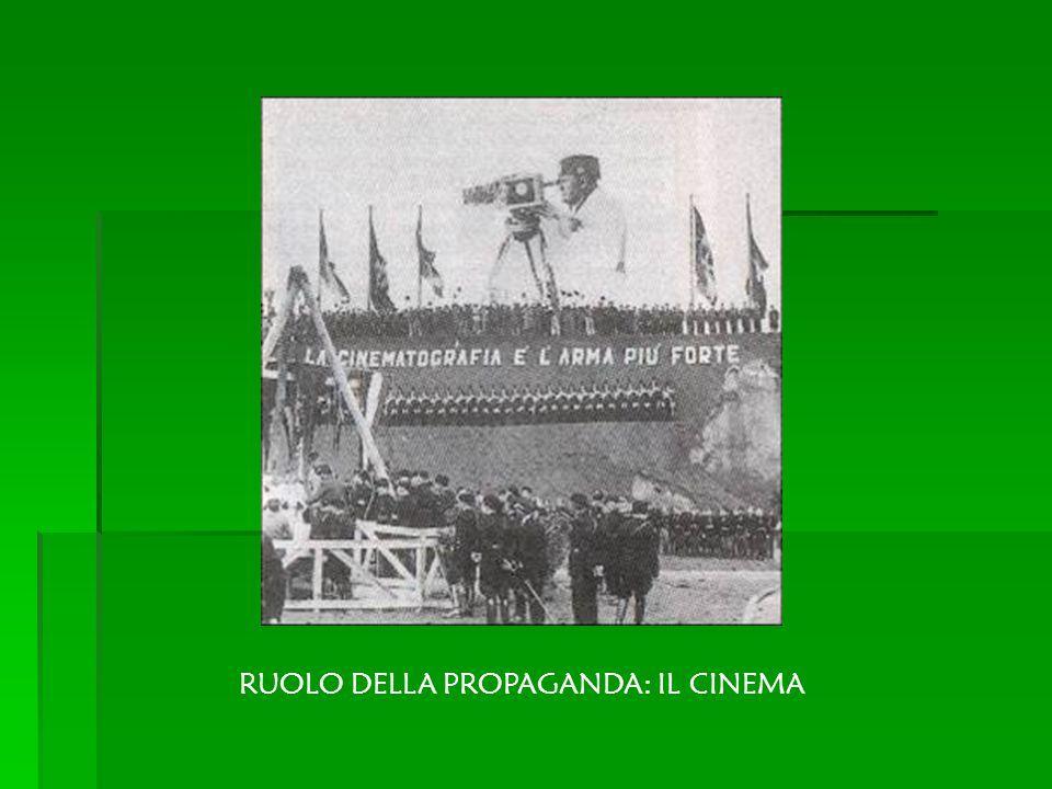 RUOLO DELLA PROPAGANDA: IL CINEMA