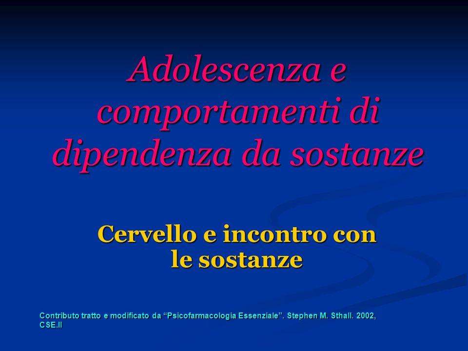 Uso di sostanze e conseguenze cognitive in adolescenza.