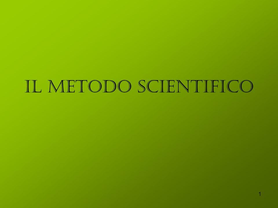 1 Il metodo scientifico