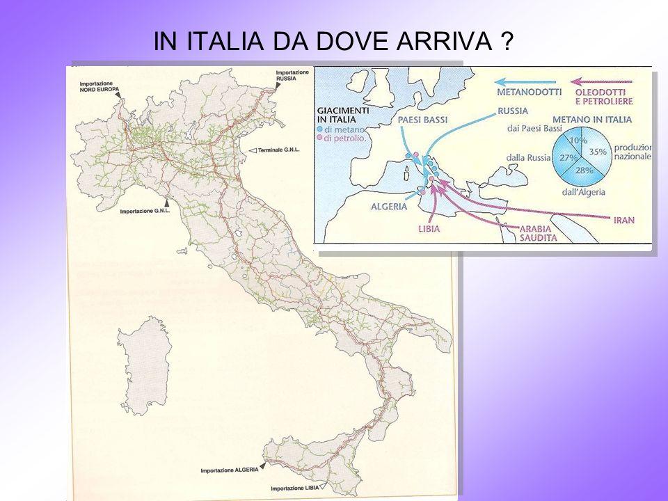 IN ITALIA DA DOVE ARRIVA ?
