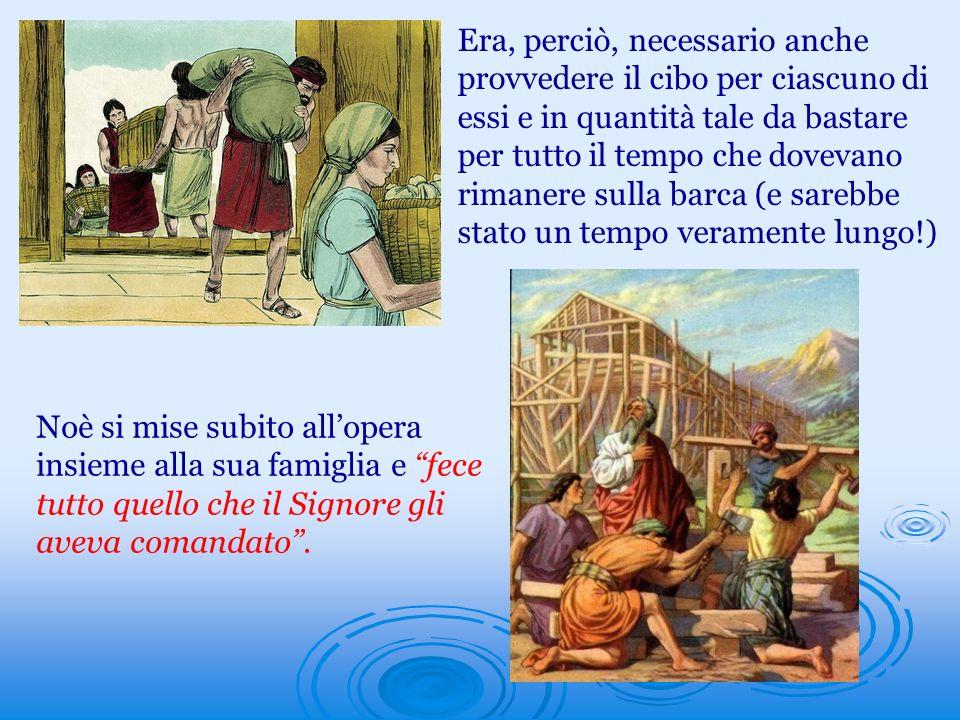Ma, mentre il lavoro procedeva, Noè continuò a predicare la prossima catastrofe e ad invitare le persone a sfuggire allira a venire [la Bibbia, infatti, lo definisce Predicatore di giustizia (2° Pt.