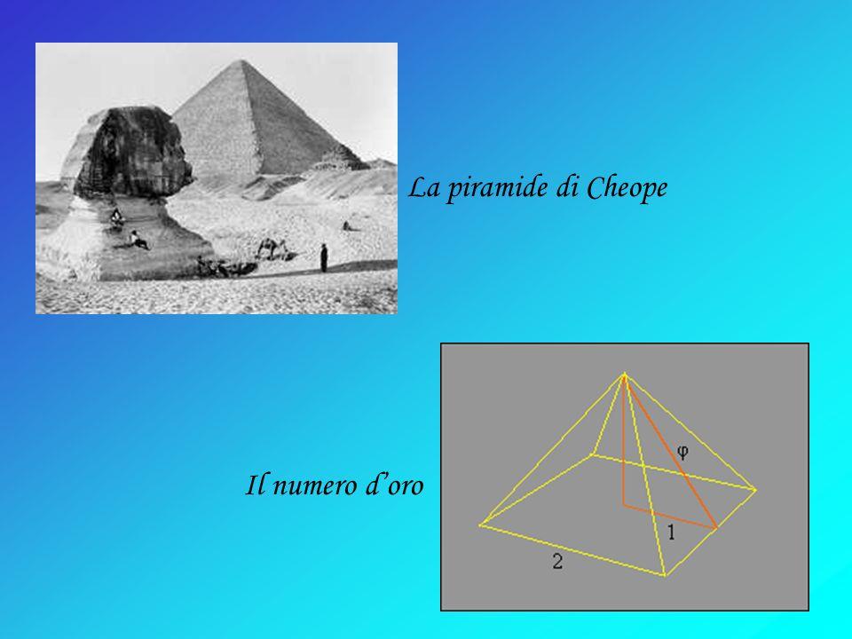 La piramide di Cheope Il numero doro