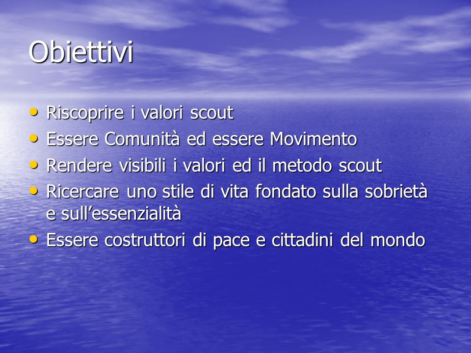 Riscoprire i valori scout attraverso attraverso limparare facendo limparare facendo la lettura delle opere di B.-P.