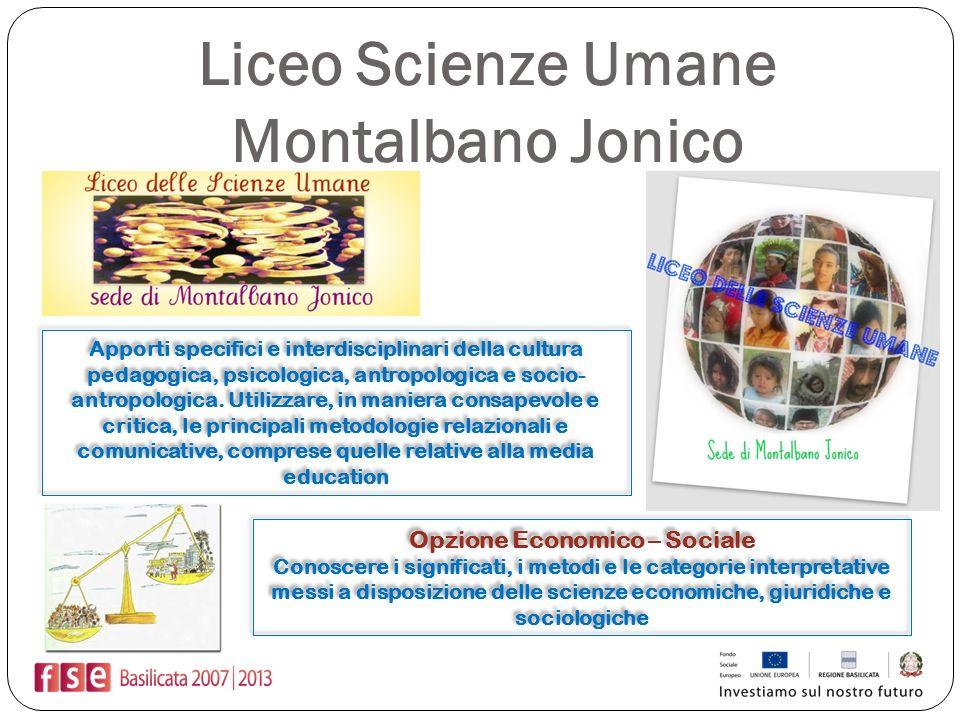 Liceo Scienze Umane Montalbano Jonico Apporti specifici e interdisciplinari della cultura pedagogica, psicologica, antropologica e socio- antropologic
