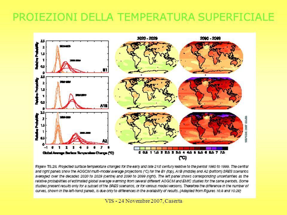 VIS - 24 Novembre 2007, Caserta PROIEZIONI DELLA TEMPERATURA SUPERFICIALE