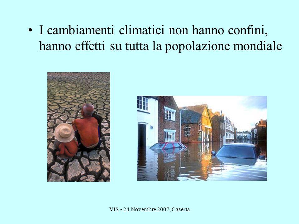 VIS - 24 Novembre 2007, Caserta I cambiamenti climatici non hanno confini, hanno effetti su tutta la popolazione mondiale