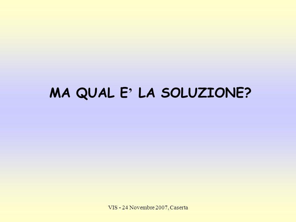 VIS - 24 Novembre 2007, Caserta MA QUAL E LA SOLUZIONE?