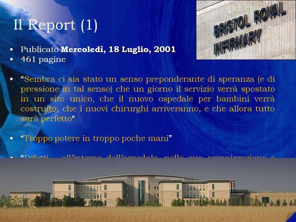 Il Report (1) 18 Luglio, 2001Publicato Mercoledì, 18 Luglio, 2001 461 pagine Sembra ci sia stato un senso preponderante di speranza (e di pressione in