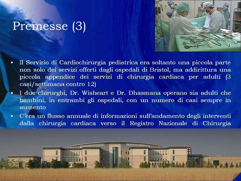 Premesse (3) Il Servizio di Cardiochirurgia pediatrica era soltanto una piccola parte non solo dei servizi offerti dagli ospedali di Bristol, ma addir