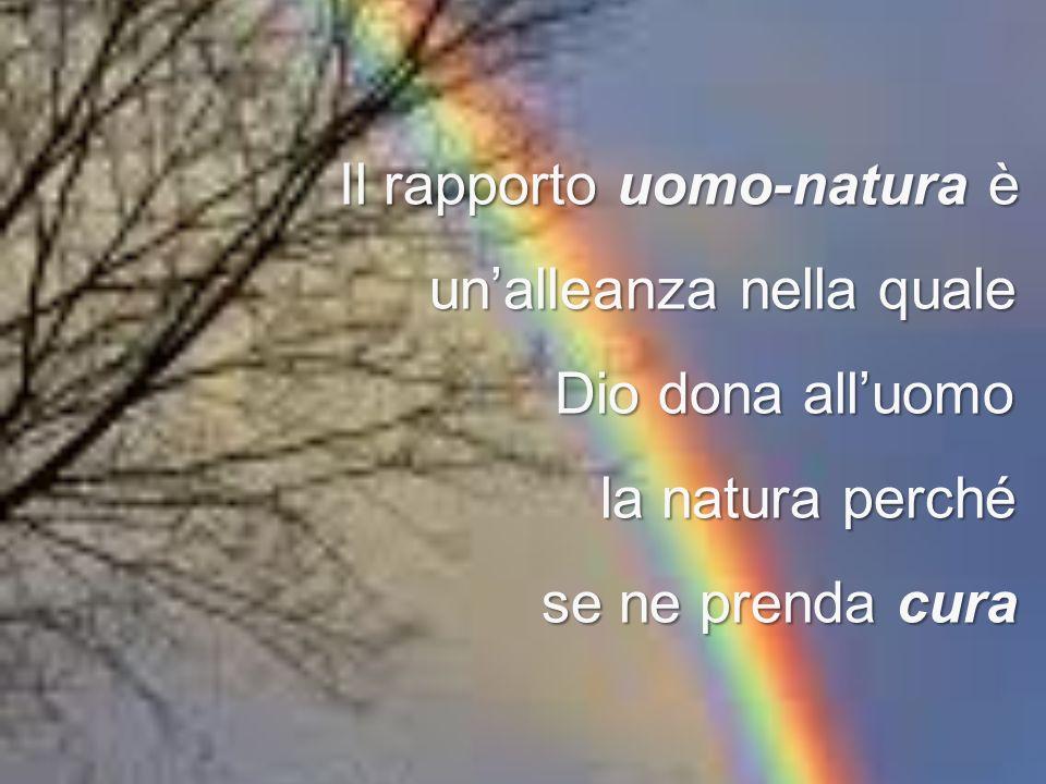 Il rapporto uomo-natura è unalleanza nella quale Dio dona alluomo Dio dona alluomo la natura perché se ne prenda cura