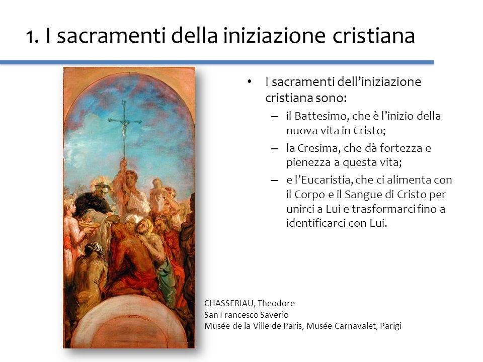 1. I sacramenti della iniziazione cristiana I sacramenti delliniziazione cristiana sono: – il Battesimo, che è linizio della nuova vita in Cristo; – l