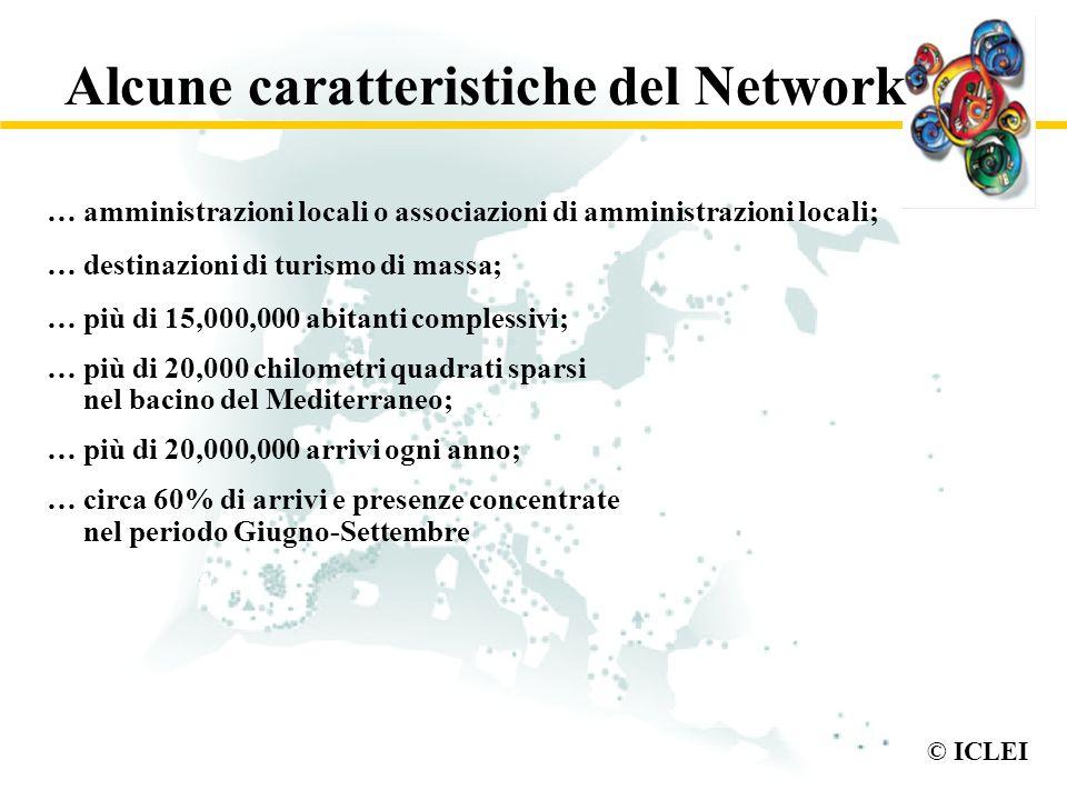 © ICLEI Alcune caratteristiche del Network … amministrazioni locali o associazioni di amministrazioni locali; … destinazioni di turismo di massa; … pi