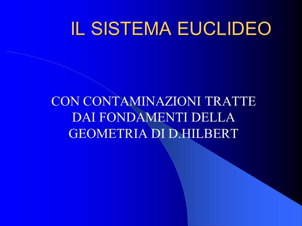 IL SISTEMA EUCLIDEO CON CONTAMINAZIONI TRATTE DAI FONDAMENTI DELLA GEOMETRIA DI D.HILBERT